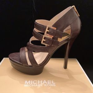 MICHAEL Michael Kors Strappy Platforms, 9-1/2M